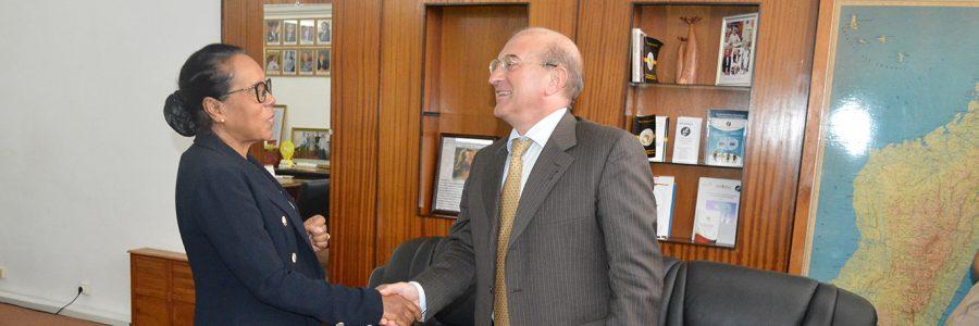 Giovanni Di Girolamo, satisfecit exprimé auprès de la Présidente de l'Assemblée nationale